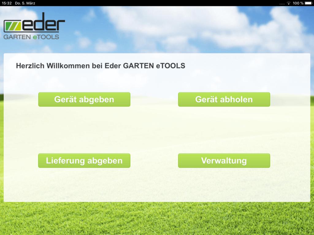 24/7 Service Abgabe Eder Garten eTOOLS